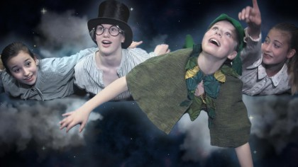 blue screen graphic design after effects clouds peter pan